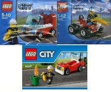 3x Lego City Feuerwehr Chief Autos Helikopter 30001 30010 30347 OVP Polybeutel