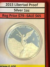 2015 Libertad 1oz Silver Proof Exc Condition Mintage 6,400 Very Rare