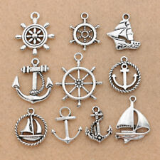 10PCS Mix Antique Silver Anchor Boat Charm pendant for Jewelry Accessories