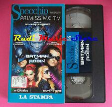 VHS film BATMAN & ROBIN Uma Thurman George Clooney SPECCHIO (F92*) no dvd