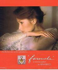 "PUBLICITE ADVERTISING 124 1977 NINA RICCI ""Farouche"" par D.Hamilton 1"