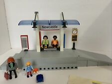 Playmobil 4304 Train Station 95% Complete