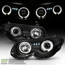 1999-2004 Chrysler 300M Halo Projector LED Black Headlights Headlamps Left+Right