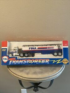 Fina Diecast Gas Transporter Truck Premier Limited Edition- Friction Power NIB