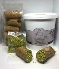 Nutella Crema di Pistacchio 1kg + 12 Cannoli siciliani + Granella Pistacchio al