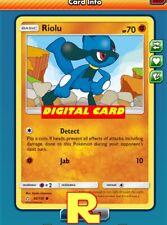 4x Riolu (Detect) - for Pokemon TCG Online (DIGITAL ptcgo in Game Card)