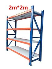 New 2M Garage Warehouse Steel Storage Shelving Shelves Racking Racks Blue