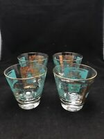 Lot Of 3 Vintage Mid Century Bar Libbey SC Steam River Boat Gold Glass Tumbler
