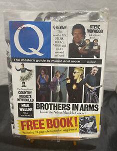 New Vintage Q MAGAZINE w/ Free Book - July 1988 - Whitney Houston Steve Winwood