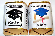 60 Graduation Candy Wrappers Party Favors Personalized ~ Many Colors