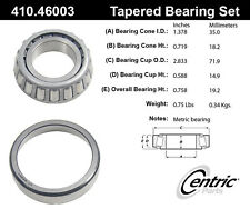 Centric Parts 410.46003 Front Outer Bearing Set