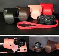 Leather case bag For NIKON 1 J1 J2 J3 camera 10-30mm or 30-110mm Lens CR-VERSION