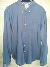 Saint Jude Mens Long Sleeved Shirt Aylesbury Blue Size Large BNWT