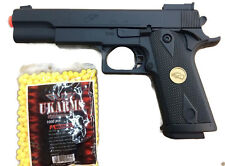 SUPER QUALITY SPRING AIRSOFT GUN PISTOL WITH FREE BB'S 1000 BULLETS