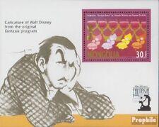 Mongolie Bloc 179 (complète edition) neuf avec gomme originale 1991 walt Disneys