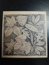 Maple Leaf Autumn Fall Leaves Rubber Stamp Scrapbooking Crafts