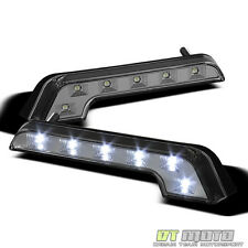 [COOL] L-Shaped White LED DRL Universal Driving Light Bumper Lamp Left+Right Set