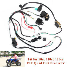 Wiring Harness Loom Solenoid Coil CDI For 50 110 125cc Quad Pit Dirt Bike ATV