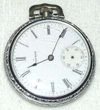 Antique WALTHAM A.W.W. Co. Art Deco Model 1899 7 Jewel 16S Silver Pocket Watch