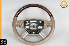 06-09 Mercedes X164 GL450 GL550 ML550 Steering Wheel Beige w/ Wood Top OEM