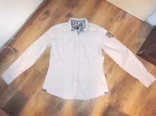 Napapijri Bluse Hemd Damen Gr. XL, Weiß/Rosa