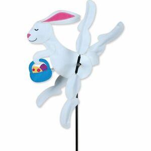 Easter Bunny Whirligig Wind Spinner with Egg Basket Premier Windspinner