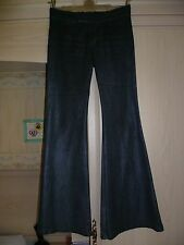 "GUESS JEANS Pewter Subtle Metallic Finish Trousers Label 30"", Approx UK 10, Rare"