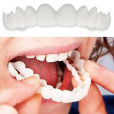 Upper & Lower Comfort Flex White Fake Teeth Cover Veneer Denture Perfect Smile