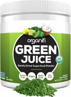 Organic Green Juice Superfood Powder Dietary Supplement Cleanser Detox- 9.5oz.