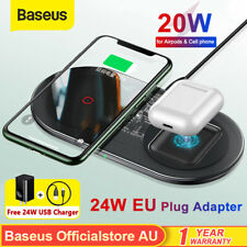 Baseus 20W Qi 2 in 1 Visible Wireless Charger Fast Charge Pad for Airpods iPhone