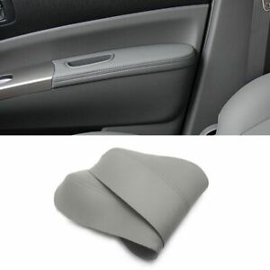 Car Microfiber Leather Front Door Armrest Panel 2 Pieces Cover For Toyota Prius