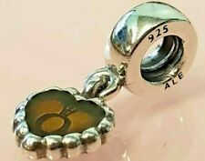 PANDORA | BRONZE FOREVER HEART DANGLE CHARM *NEW* 790471EN10 RARE RETIRED 925ALE