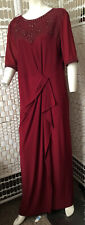 Stylish Red MONSOON Maxi Dress with Inlayed Jewels In VGC