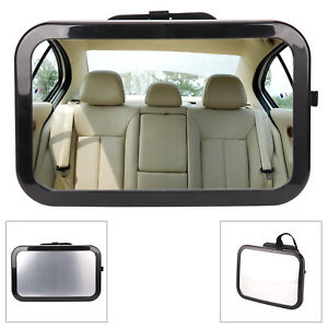 Baby Child Adjustable Wide View Rear Back Seat Car Safety Mirror Headrest Mount