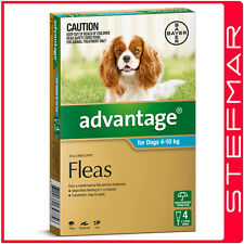 Advantage for Dogs 4-10Kg Medium Aqua 4Pack