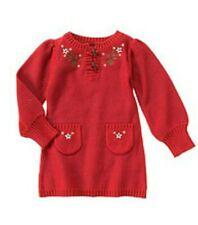 Gymboree MOUNTAIN CABIN red sweater dress girls size 5