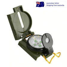 Compass Military Outdoor Folding Portable Lens Hiking Scouting Camping Tool Gift