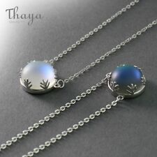 Silver Xmas Gifts For Her Women Aurora Pendant Necklaces Halo Crystal Gemstone