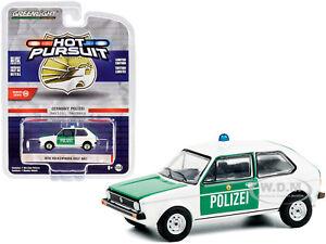 1974 VOLKSWAGEN GOLF MK1 POLICE BERLIN, GERMANY 1/64 DIECAST GREENLIGHT 42930 B