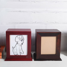 Wooden Pet Cremation Urn for Ashes Dog Cat Memorial Box Pet Funeral Urn