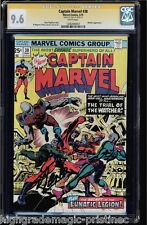 CAPTAIN MARVEL #38 CGC 9.6 WHITE PAGES SS STAN LEE WATCHER APP CGC #1206490003