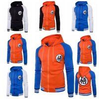 Men's Winter Coat 3D Anime Dragon Ball Z Son Goku Jacket Fleece Sweater Hoodies
