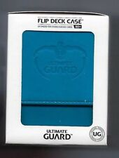ULTIMATE GUARD LEATHERETTE FLIP DECK CASE Standard  LIGHT BLUE 80+ Game Card Box