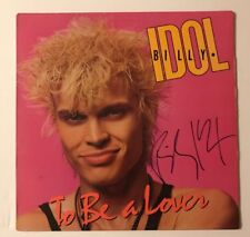 Billy Idol Signed To Be A Lover Vinyl LP JSA COA # Q64620  Autographed