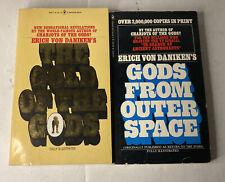 "Erich Von Daniken - ""Gods From Outer Space & Gold of the Gods VTG Paperbacks"