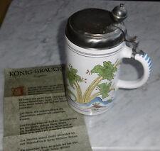 könig brauerei bier erfurter walzen krug fayence 1783 REPLIK top deko alt 1992