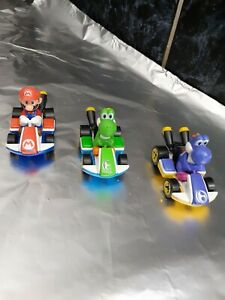3 x Carrera Nintendo Mario Kart Fahrzeuge für Rennbahn 1 Mario 2 Yoshi Top Zusta