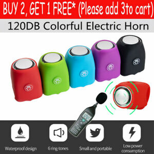 Bicycle Bell 120db Waterproof Cycling Bike Bells Mini Portable Electric Horn New