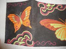 Retired Vtg Handpainted Needlepoint Canvas JP Designs Butterflies Butterfly