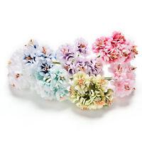 6 Pcs Handmake Artificial Flower Bouquet Wedding Decoration DIY Wreath Top HK